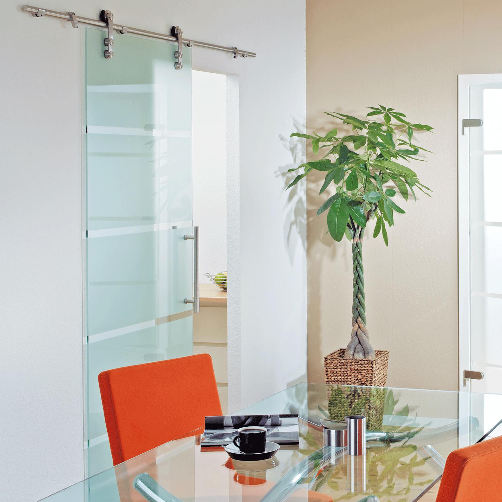 glasschiebet r offenes system blockstreifen 900x2080mm stangengriff 8mm ebay. Black Bedroom Furniture Sets. Home Design Ideas