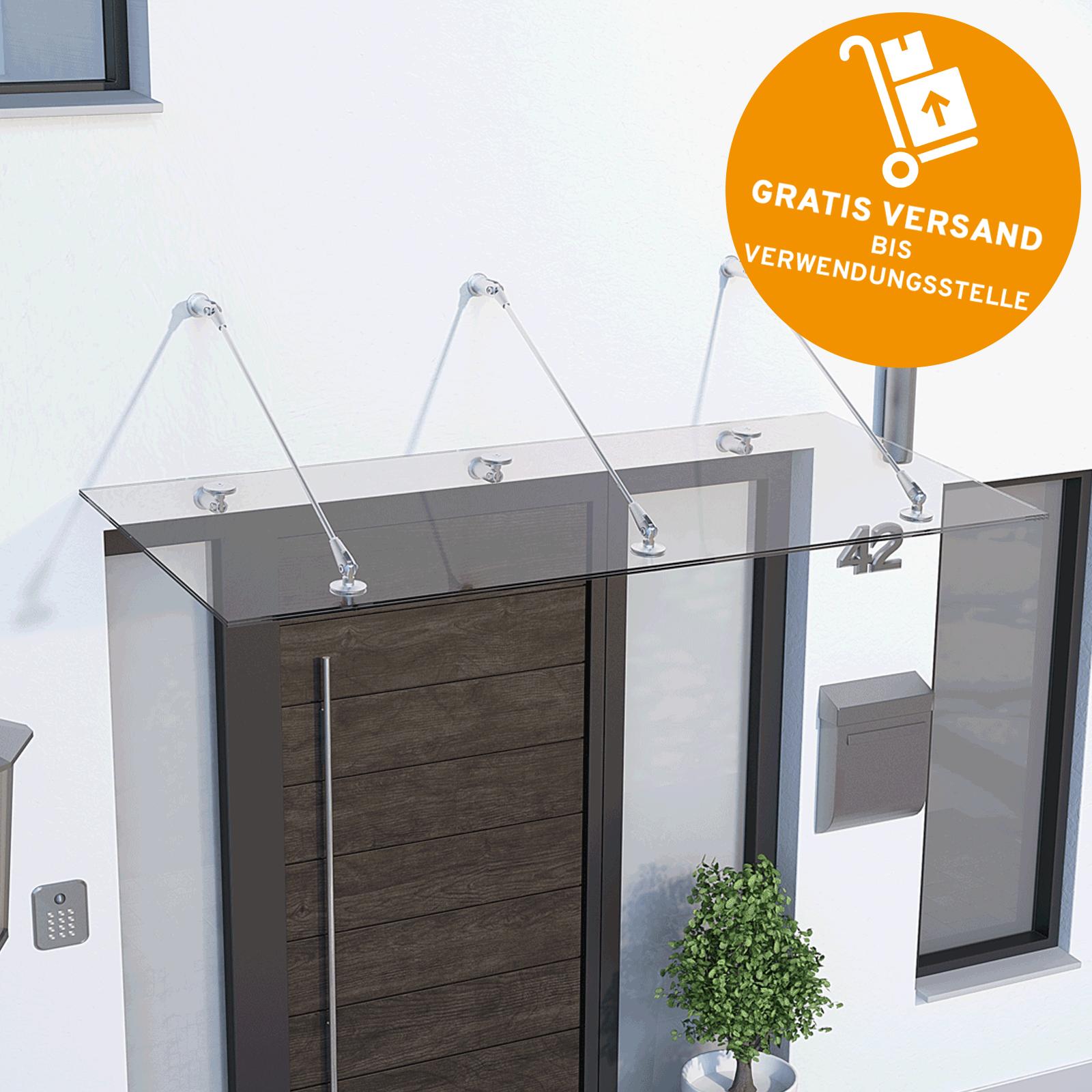Schulte Glasvordach Vordach Haustürvordach 1600x900 Glas VSG ...